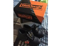 WorkTough Safety Black Boots - Brand New