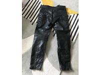 Men's Skintan leather motorcycle trousers