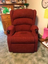 HSL Rise and recline electric chair colour red wine