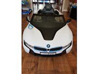 BMW parent control kids car has aux and led lights