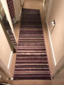 REDUCED Next Long Purple Striped Carpet Runner
