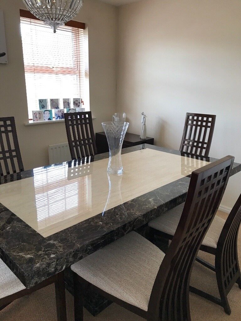 Remarkable Stunning Italian Marble Dining Table 6 Chairs And Matching Sideboard In Brough East Yorkshire Gumtree Beutiful Home Inspiration Xortanetmahrainfo