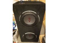 """Alpine Type R 10"""" in Twin Sub Woofer Box plus spare 3rd sub"""