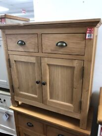 2 drawer 2 door wood sideboard