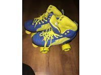 Rio quad roller skates. Excellent condition, barely used. Size 3, style good for boys or girls