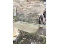 Pair of sturdy silver garden gates