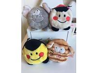 4 Bobballs soft toys