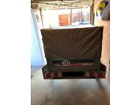 Erde 122 Trailer with extension kit, idea for camping