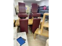 DINING TABLE AND 6 CHAIRS , COFFEE TABLE ETC