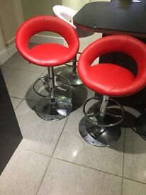Red Barstools (Pair)