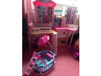 Barbie House & Swimming Pool Set