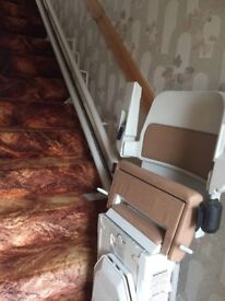 Stannah stairlift, with corner bend. Recent model, prime condition.