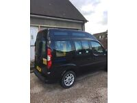61 fiat doblo taxi full mot wheel chair access