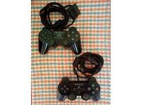 2 SONY PLAYSTATION DUALSHOCK 2 CONTROLLERS