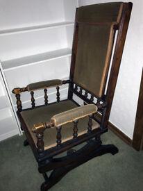 Platform style rocking chair