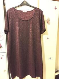 Size 22 sparkly dress purple/pink