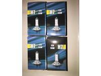 4 x H7 headlamp bulbs