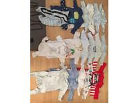 Set Tiny Baby clothes for a boy