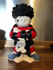 Dennis the menage and Gnasher cookie jar