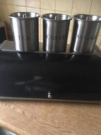Bread tin and canisters