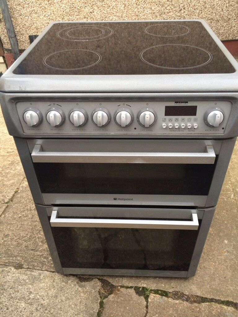 £127.89 Cannon grey ceramic electric cooker+60cm+3 months warranty for £127.89