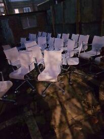 Alberto Meda 'Meetingframe 44' chair, white Alias (30 chairs) (Original price for one £1,416)