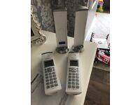 PANASONIC KX-TGK222 Cordless Phone (incl. answering machine) - Twin Handsets