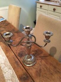 Candleabra silver plate.