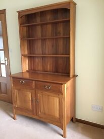 """Welsh"" style dresser - light coloured wood. Splits for ease of movement."