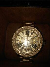 Ladys golden plated Michael Kors watch