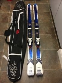 Salamon X Wing blast skis and ski bag