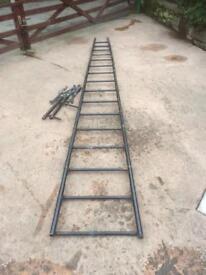 Multipurpose ladder bench