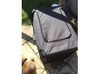 RAC DOG CARRIER BLACK WITH SIDE AND TOP OPENING EXCELLENT CONDITION HANDLES FOR CARRYING