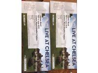 Two tickets for James Blunt 'Live at Chelsea' for Saturday 16th June 2018