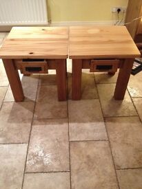2 CAPE COUNTRY SOLID PINE TABLES..£65