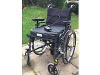 Wheel chair with power pack, hardly used