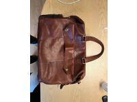 Brown Leather SDLR computer bag