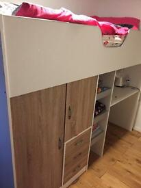 Cabin single bed with storage
