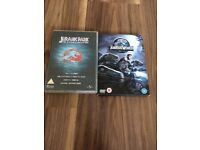 Jurassic Park Box Set & Jurassic World Dvd Set Excellent Condition