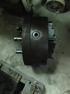 "12"" Bison 3 jaw chuck, D1 8 camlock spindle mount"