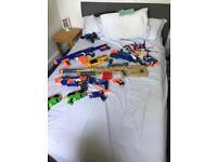 Box full of nerf guns
