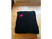 Ladies black long length towelling dressing gown / bathrobe by TU. £4
