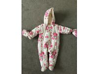 Girls Snowsuit age 3-6 months. New condition.
