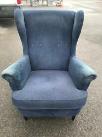 Stunning 1950's style large comfy chair with screw on black legs