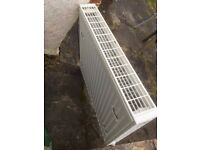Double bank CH radiator with valves