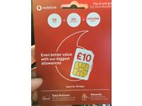 Vodafone sim £10