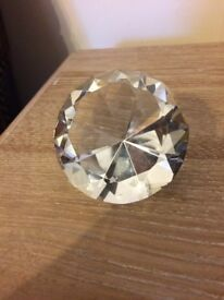 Medium Glass crystal shaped paperweight