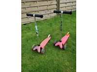 Two micro scooters