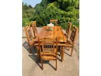 Sheesham Wood Dining table and chairs ~ Free Chairs
