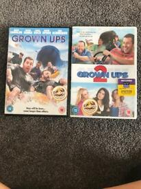 Grown ups 1 and 2 DVD's